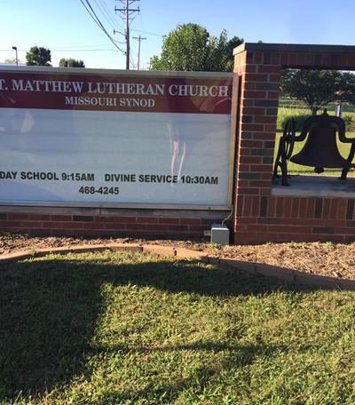 St. Matthew Brick Letter Track Sign
