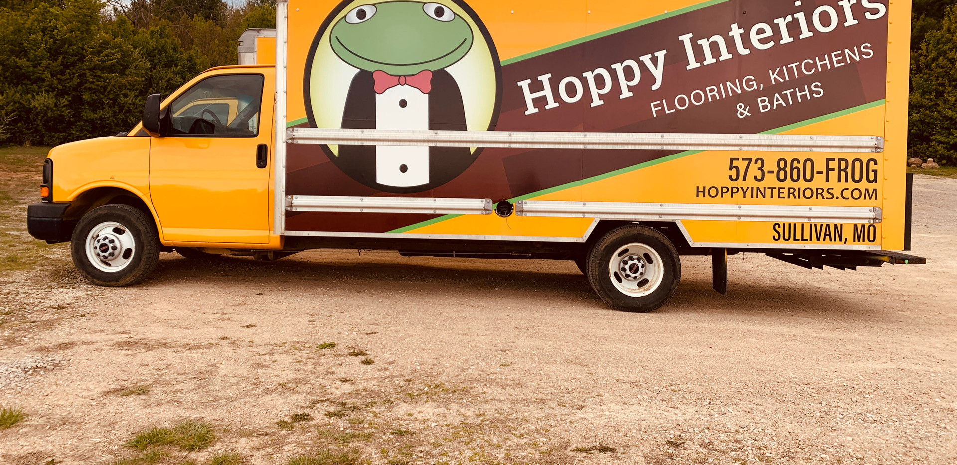 Hoppy Interiors Truck Wrap