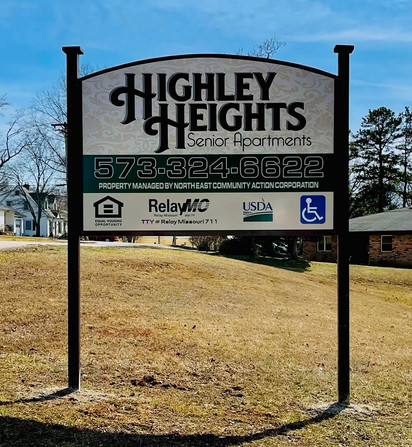Highley Heights Post Sign