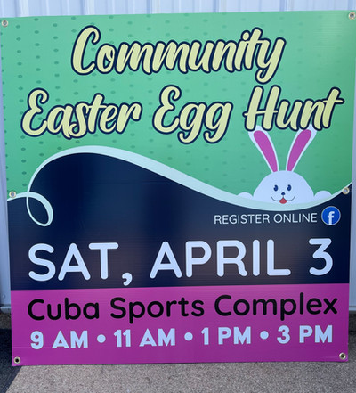 Easter Event Sign