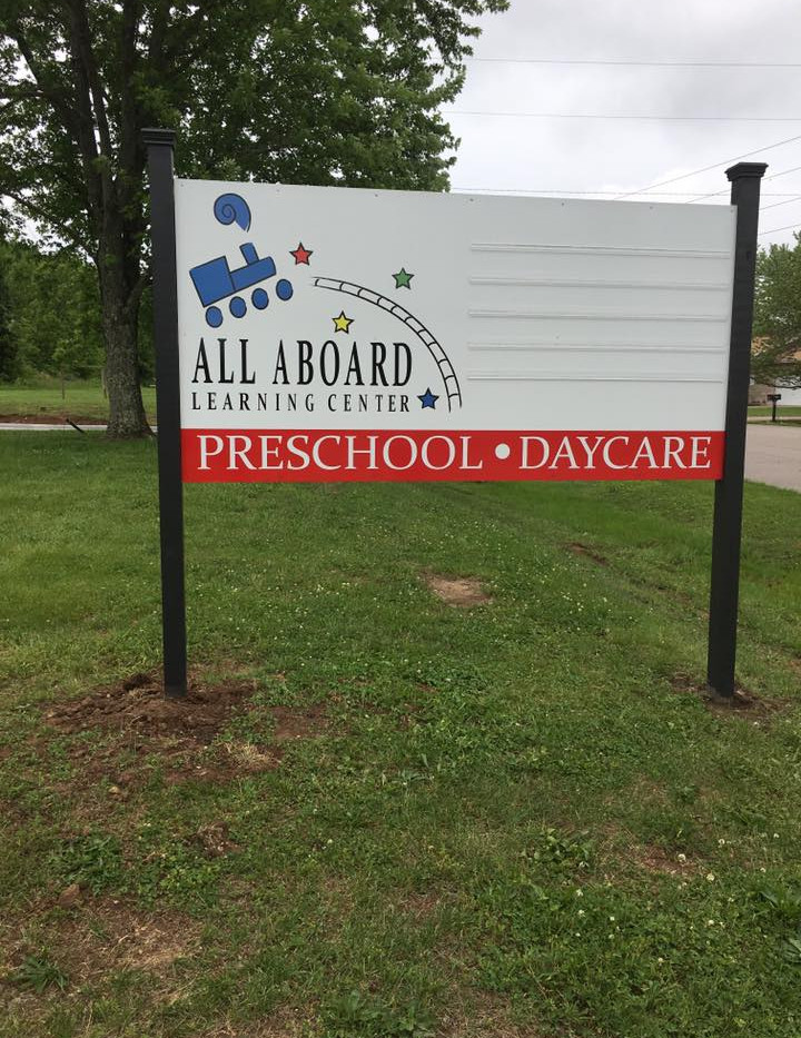 All Aboard Daycare Letter Track Sign