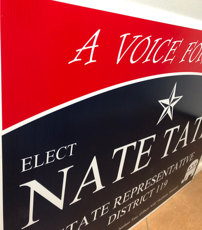 state rep political sign