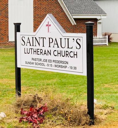 St. Paul's Church Sign