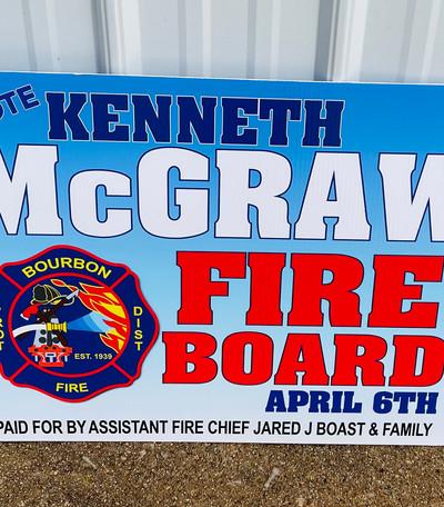 McGraw Yard Sign