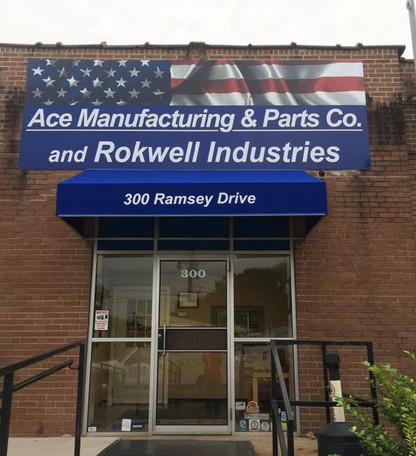 Ace Brick Wall Signage