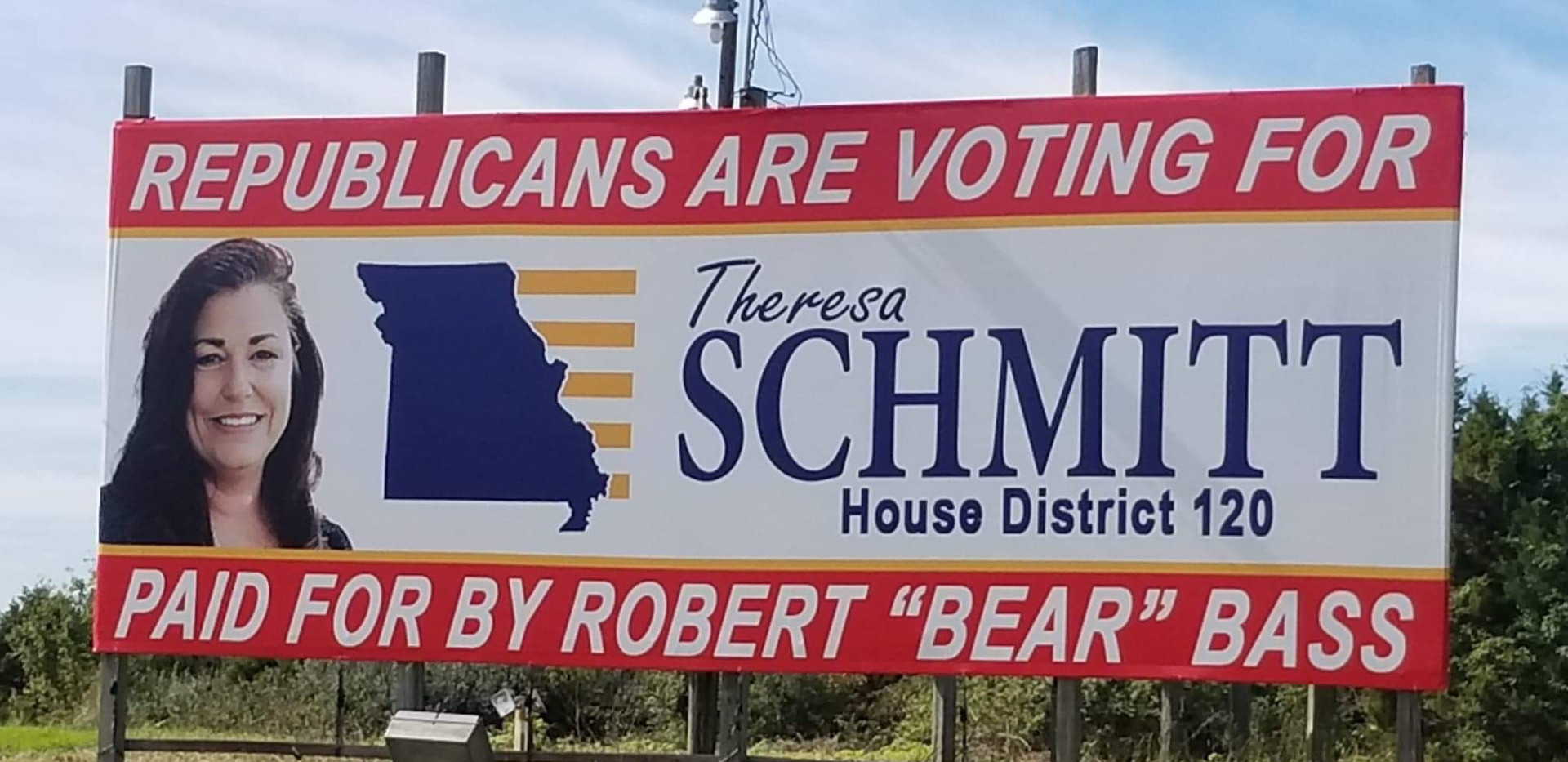political banner billboard