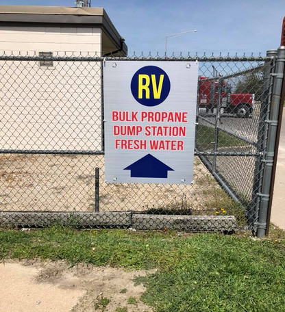 RV Fence Mounted Sign