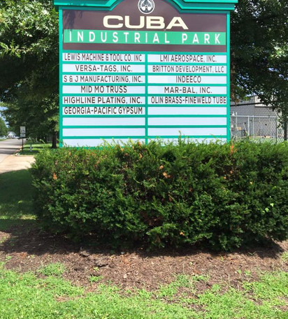Cuba Industrial Park Sign