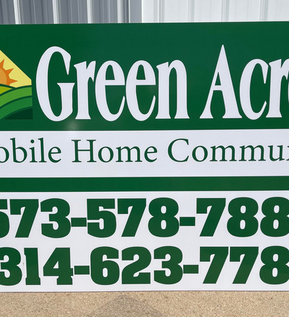 Green Acres Panel Sign