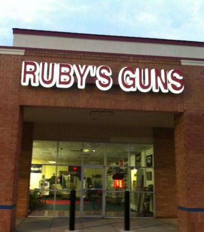 RUBYS GUNS LED BACK LIT