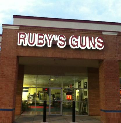 Ruby's Guns LED Backlit Letters