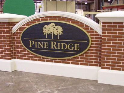 Pine Ridge Brick Monument Sign