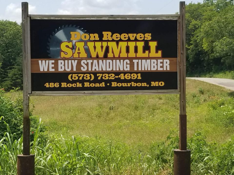 Reeves Sawmill Sign