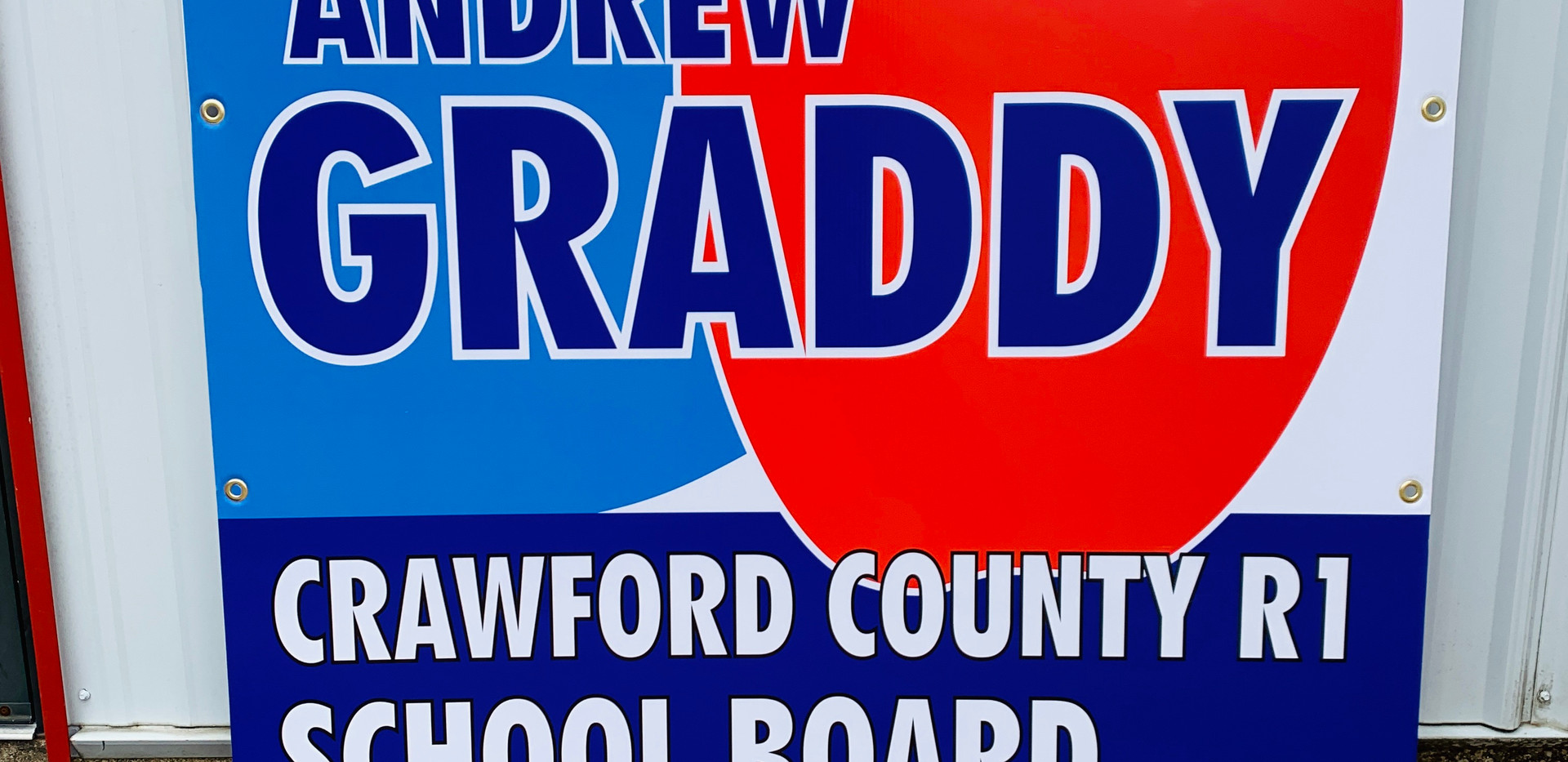 School Board Election Sign