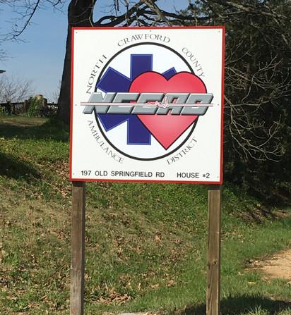 N. Crawford Ambulance Dist. Sign