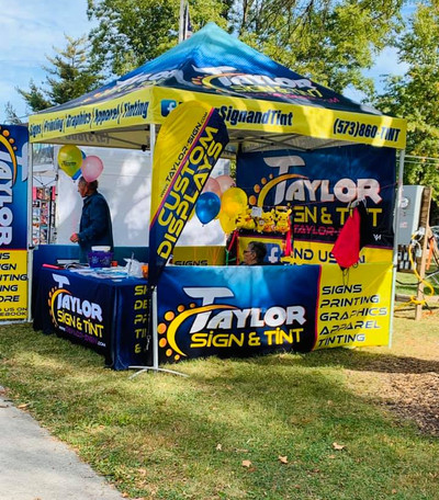 Taylor Sign Tent