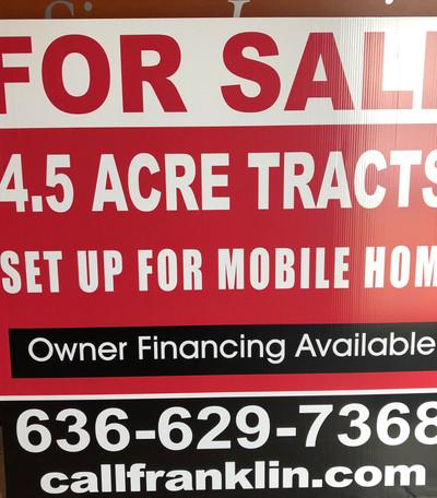 Land Realestate Yard Sign