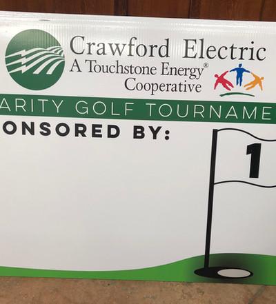 Crawford Electric Sponsor Yard Sign
