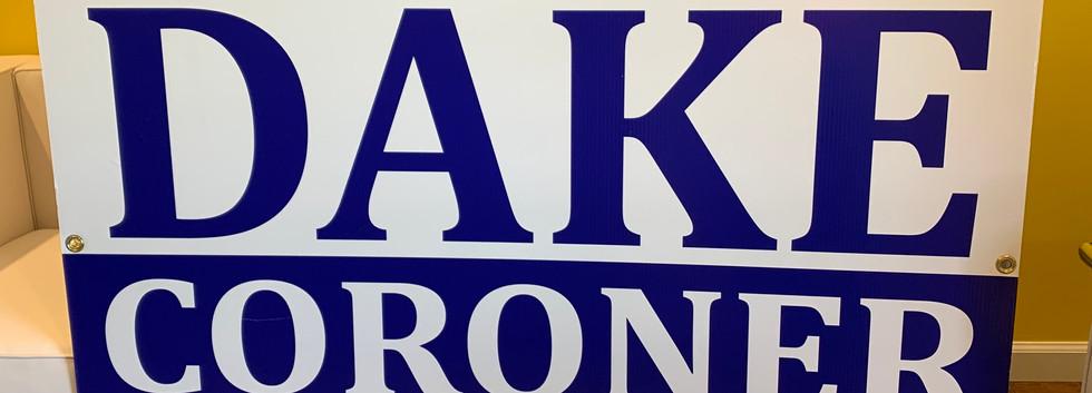 Dake Yard Sign