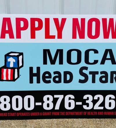 MOCA Head Start Yard Sign