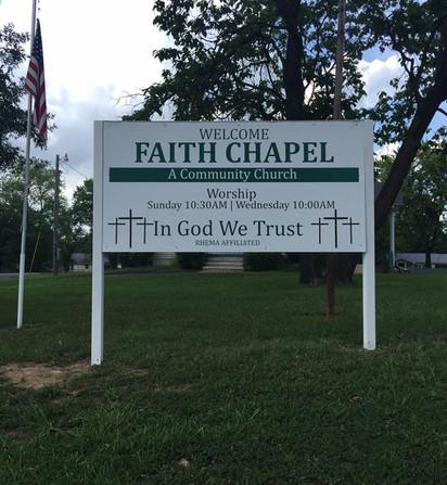Faith Chapel Sign