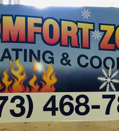 Comfort Zone Panel Sign