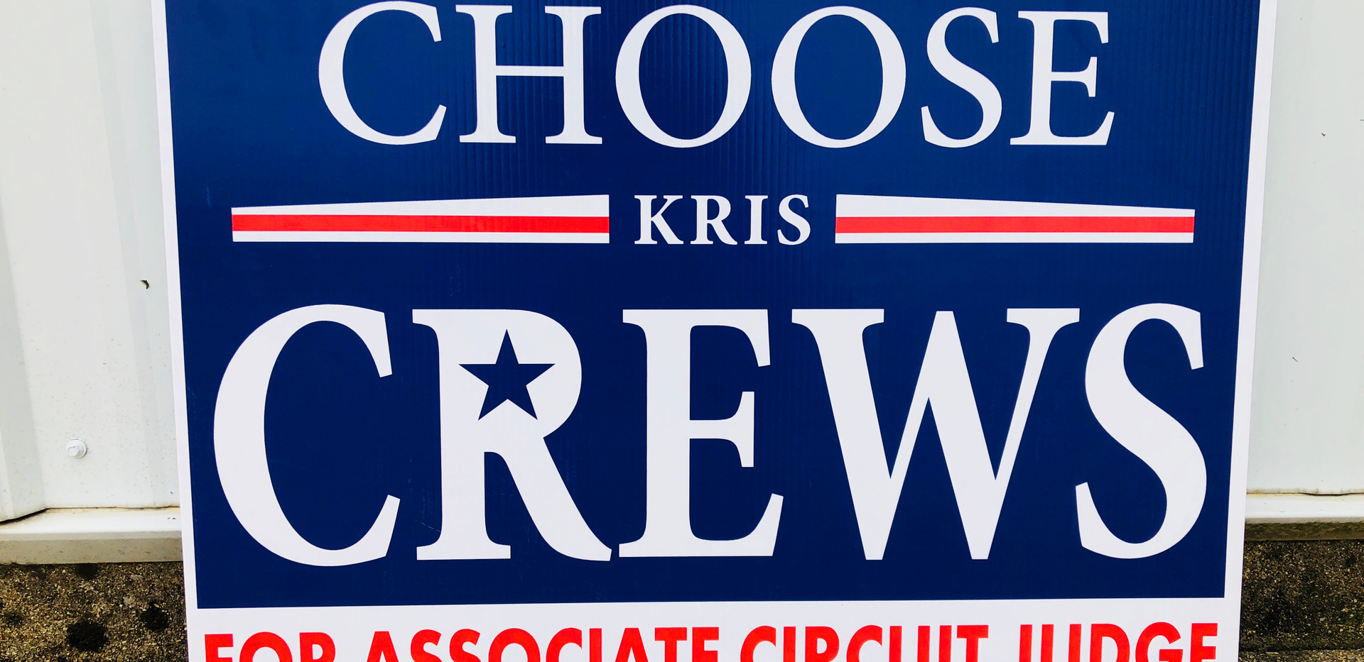 yard sign political sign