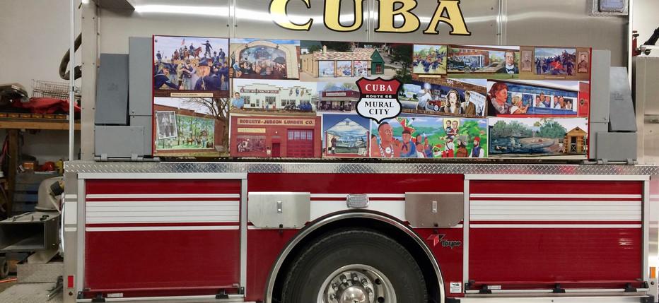 Cuba Fire Custom Mural Graphics