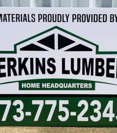 Perkins Lumber Yard Sign
