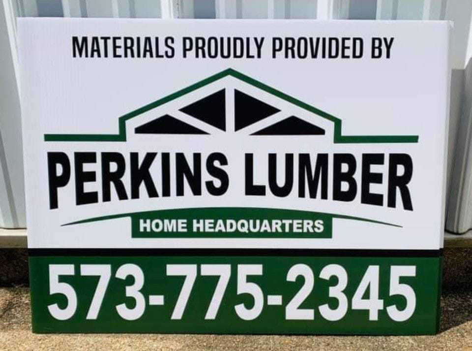 Perkins Lumber Yard Sign