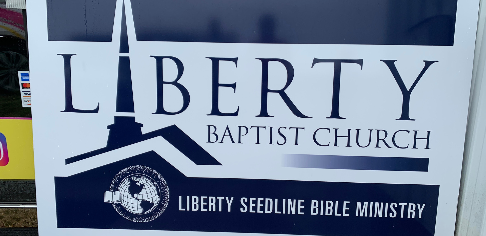 Liberty Baptist Building Sign