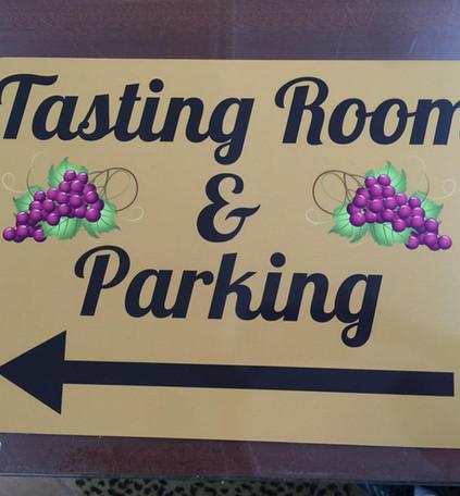 Tasting Room Panel Sign