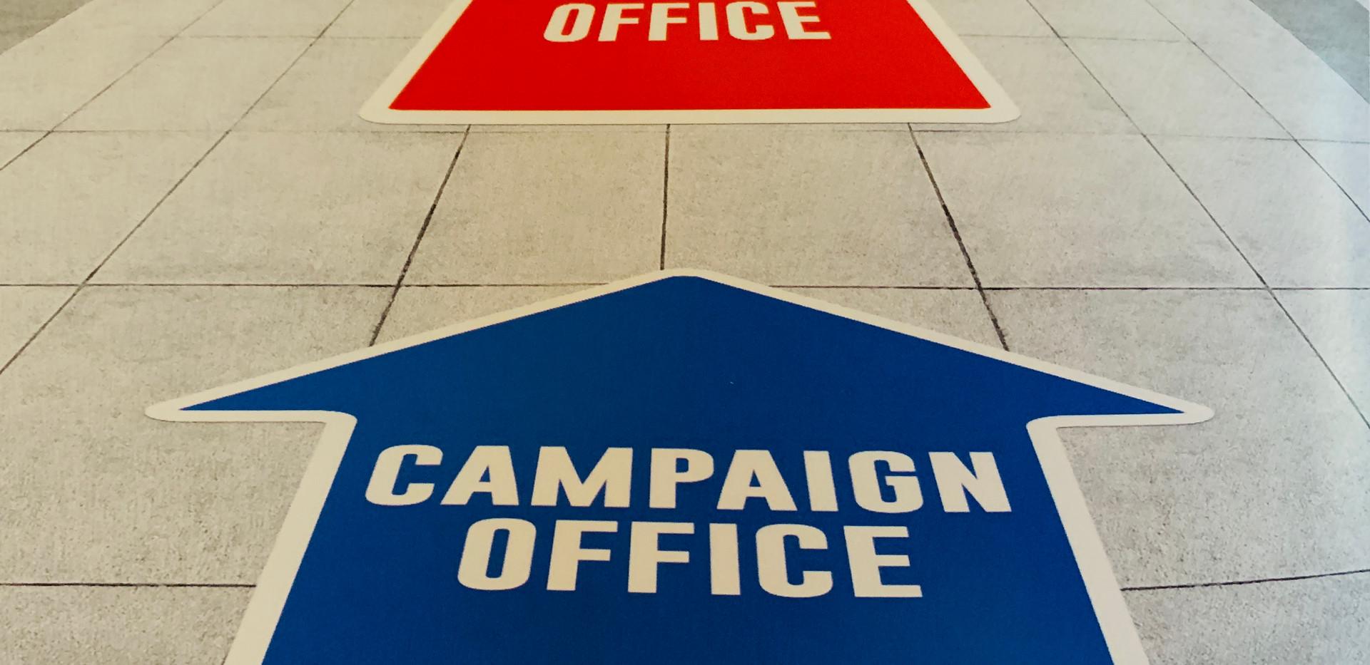 Campaign Floor Graphics