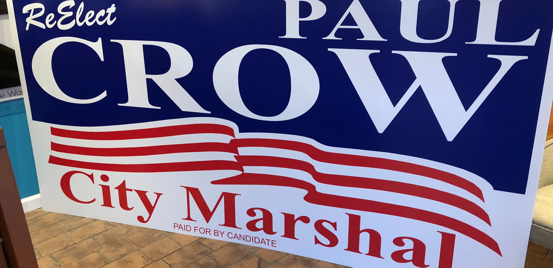 city marshal political sign