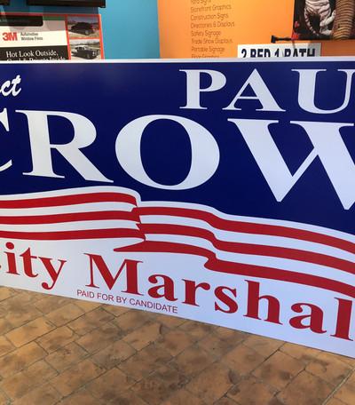 city marshal political sign