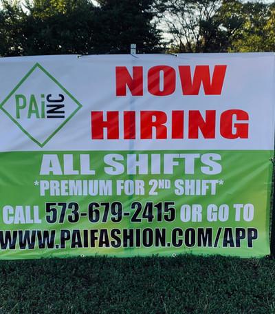 PAI Now Hiring Banner