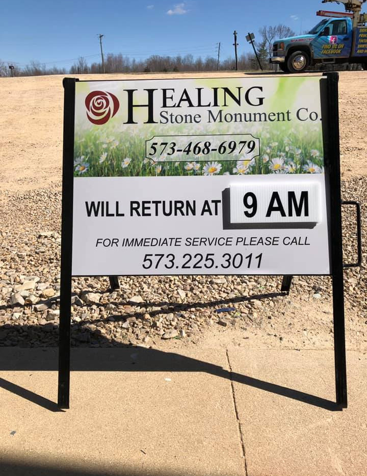 Healing Stone Portable Sign