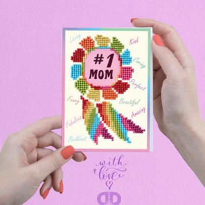 Diamond Dotz Greeting Card Number 1 Mom