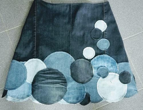 Jeans rokje patchwork**