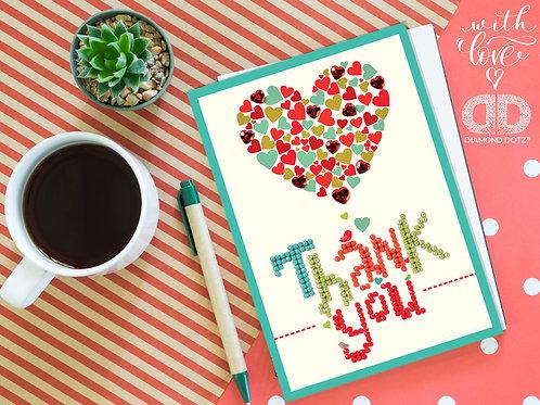 Diamond Dotz Greeting Card Thank You Heart