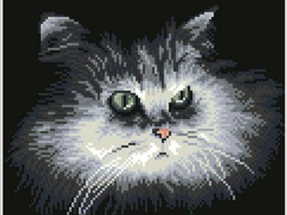 DIAMOND DOTZ SHADOW CAT