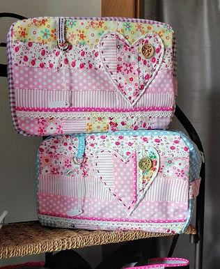 Opbergtas met rits in patchwork**