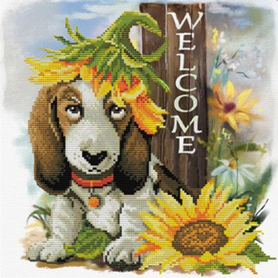 Voorbedrukt borduurpakket Sunflower Hound - Needleart