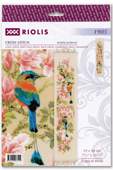 Borduurpakket Tropical Birds - RIOLIS