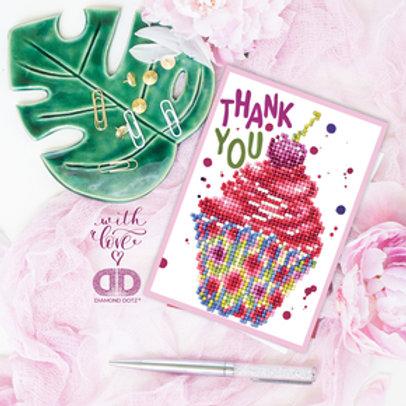 Diamond Dotz Greeting Card Cup Cake Thank You