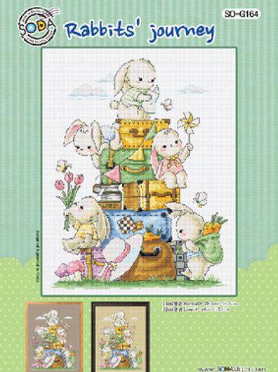Borduurpatroon Rabbits' journey - Soda Stitch