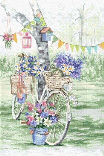 Borduurpakket Bike - Leti Stitch