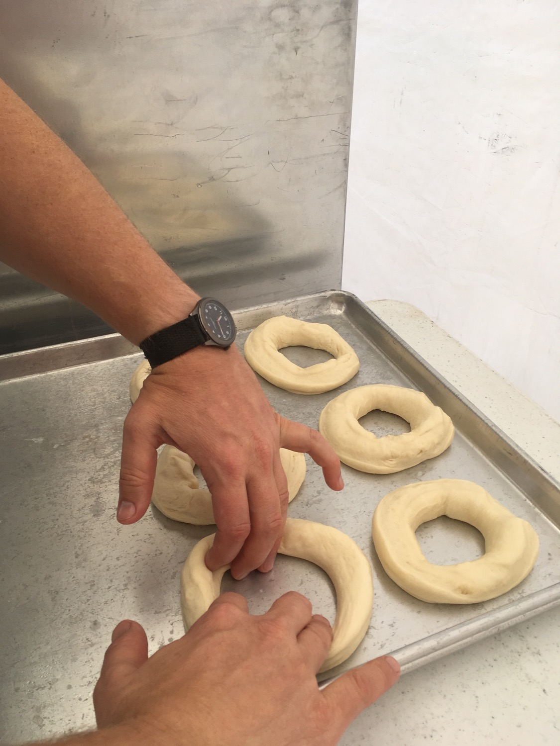 stretching donuts