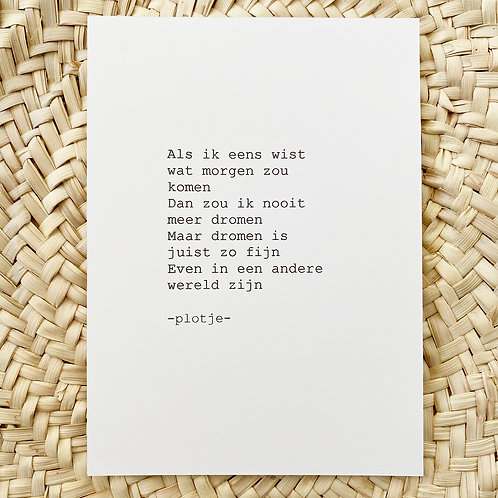 -plotje- kaart (dromen)