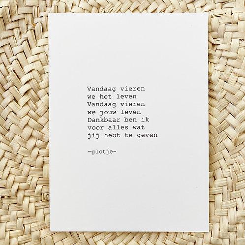 -plotje- kaart (vieren)